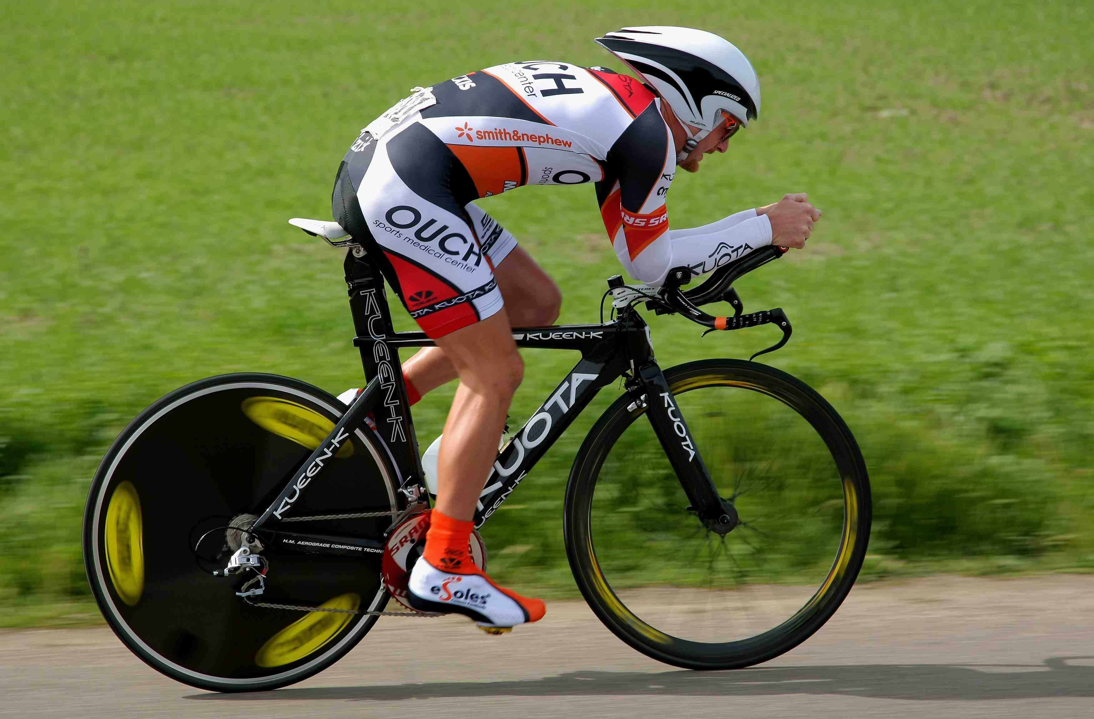 Floyd Landis during the 2009 Tour of California time trial in Solvang.