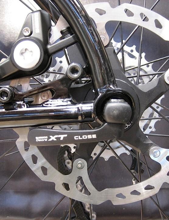 The new Breezer Apex disc mount.