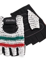 The crochet cycling gloves.