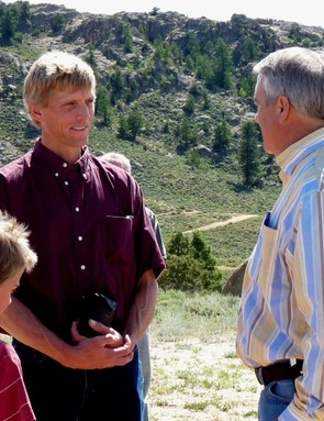 Wiens and Cooper with Colorado governor Bill Ritter