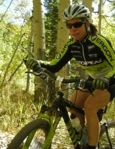 Susan riding on the trails near her Gunnison, Colorado home