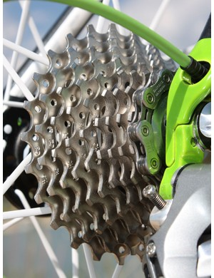 The new cassette shaves a couple of grams but otherwise provides the same silky-smooth chain movement between cogs we're used to seeing from Shimano