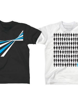 The Stripes (left) and Multi People (left) Tees cost £20 each