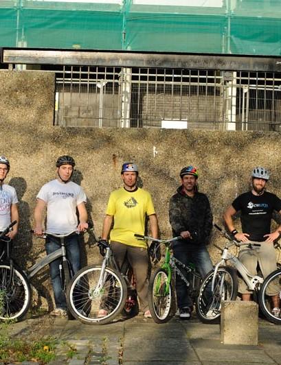 (From left to right) Sam Pilgrim, Rowan Johns, Jack Meek, Kenny Belaey, Martyn Ashton, Andrei Burton, Wesley Belaey