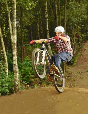 Keep your weight back  to ensure the front wheel stays at the right height