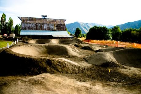 A new pump track in Hailey, Idaho.