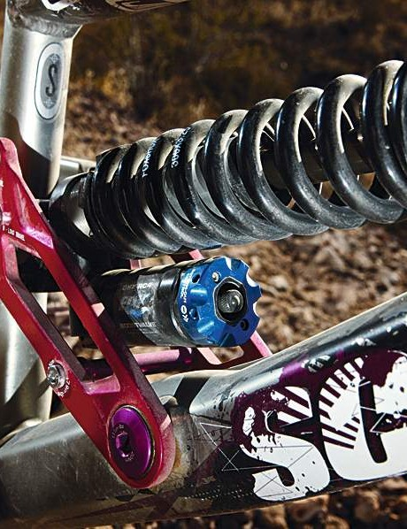 160-180mm travel comes via the new Fox DHX RC4 shock