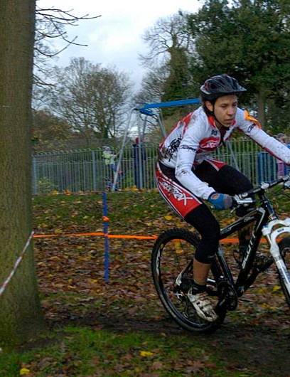 Adela Carter during round six of the Yorkshire Cyclo-Cross Series
