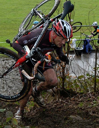Matt Denby during round six of the Yorkshire Cyclo-Cross Series
