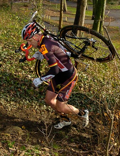 Jon Watson during round six of the Yorkshire Cyclo-Cross Series