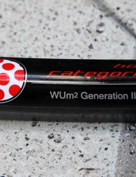 The polka dot label on the WUm2 Generation II carbon leaves little doubt as to how these are meant to be used
