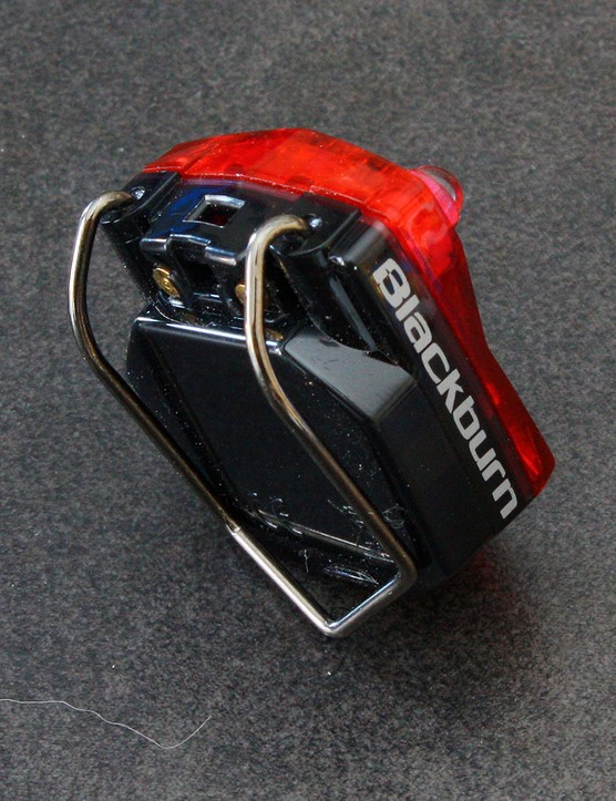 The stout clip on the rear light can be used with the included strap to secure onto seatposts and the like or directly onto bags and clothing