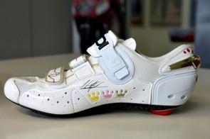 Alberto Contador's Sidi Genius 6.6 Carbon shoe