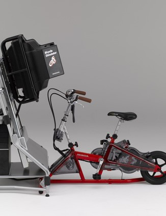 Honda have developed this bicycle simulator to teach people how to deal with traffic