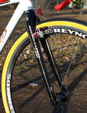 Dombroski says her Ritchey WCS Carbon 'cross fork offers lots of mud clearance and runs chatter-free