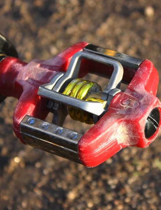 CrankBrothers' Candy 4ti pedals are a popular choice in the 'cross scene for their superior mud shedding ability