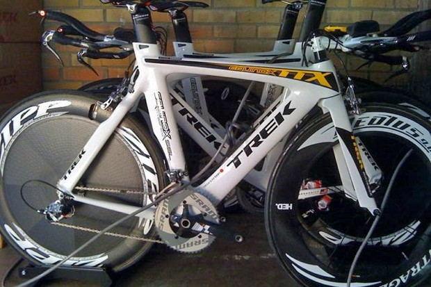 A Trek-Livestrong time trial bike similar to this one was stolen on Sunday