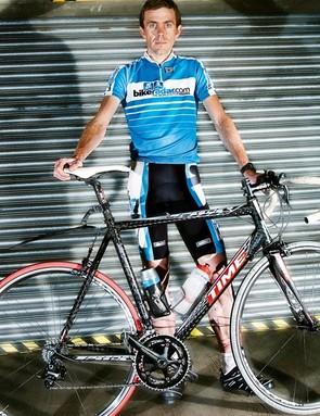 BikeRadar editor Jeff Jones with his Time Speeder test bike