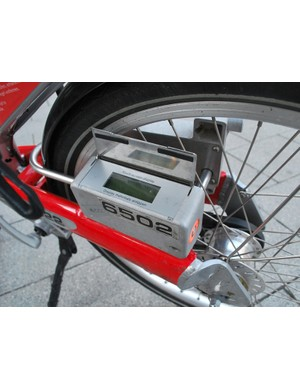 Hire bikes are safeguarded by a code-activated locking system