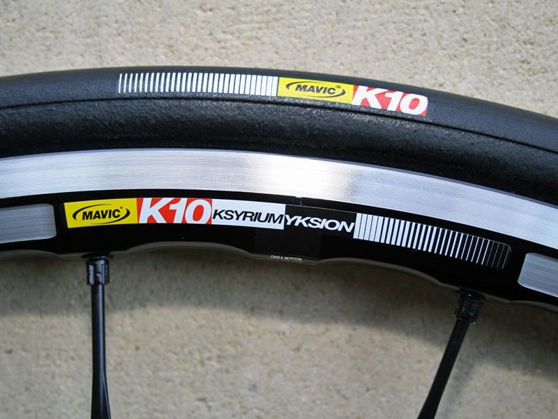 Mavic are launching their first wheel/tyre combo, the Ksyrium Yksion K10