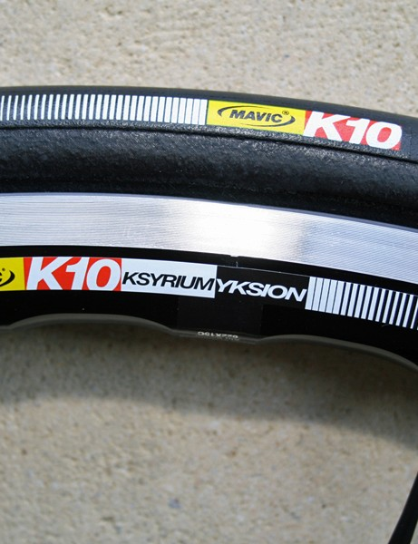 Mavic are launching their first wheel/tyre combo, the Ksyrium Yksion K10