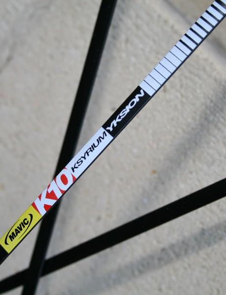 Mavic Ksyrium Yksion K10 clincher (rear)