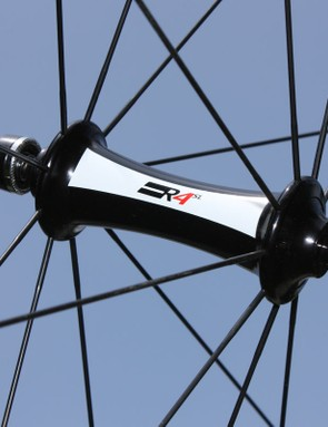 Both the front and rear hub shells sport smooth profiles and hybrid ceramic bearings