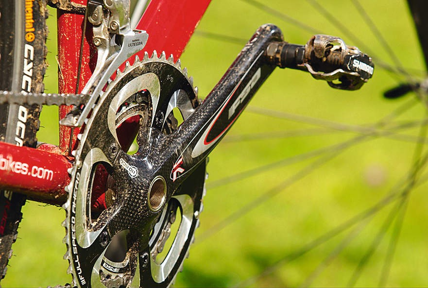 FSA's carbon K-Force compact crank is a significant investment, and the 34-tooth inner ring is a boon on steep climbs