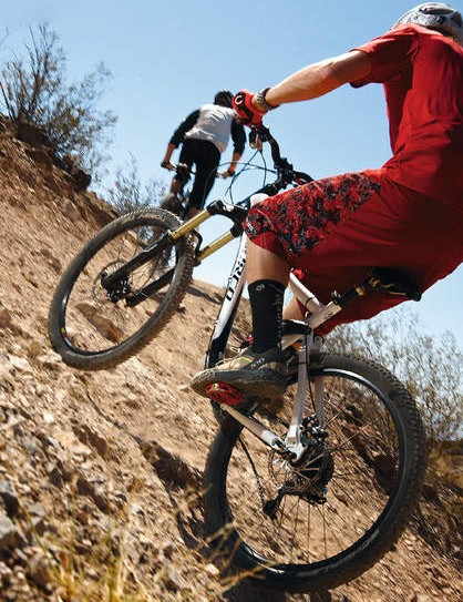 The Hammerschmidt crank  works great in sudden steep  climb situations
