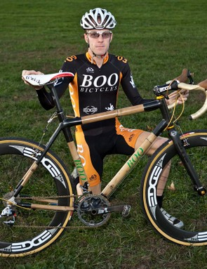 Wren has posted some good results this year on his bamboo machine, including a 10th place finish at the UCI C2 'cross event in Wissahickon, Pennsylvania back in October
