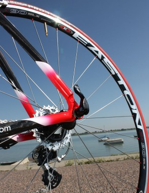 The Easton EC90 SLX aluminium clinchers were superbly built, competitively light and snappy under power