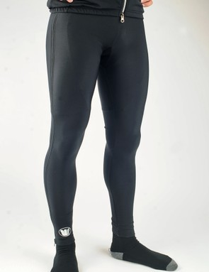 Vermarc's Super Roubaix Double Zip Warmup Tights are just the thing for pre-race warm-ups in cold conditions