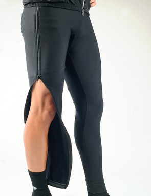 The full-length side zippers running along each leg let you strip these off in seconds – roll up to the start line and stay warm almost right up until the gun goes off