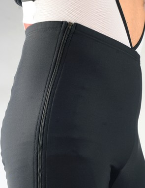 The stiff zipper and high-cut waist make for a so-so fit but that's largely forgivable given the garment's intended purpose