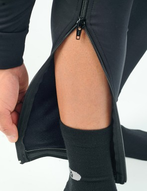 Grippers around the ankles help keep the bottom of the tights in place