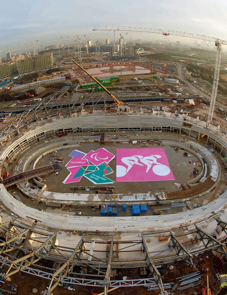 The Olympic velodrome in London is taking shape, with less than 1,000 days to go until the Paralympics