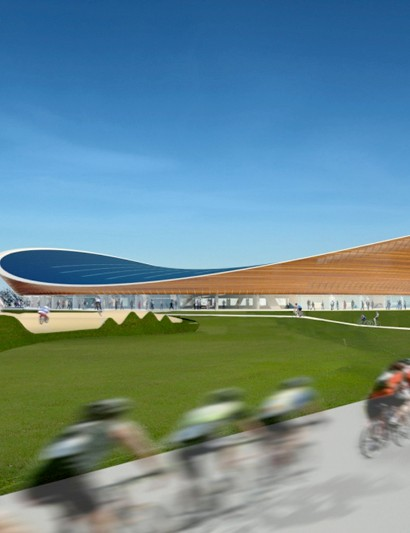 Artist's impression of the Olympic velodrome in London