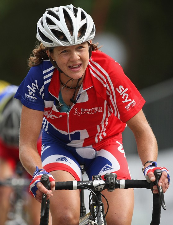 Sharon rides in the 2009 UCI Road World Championships in Mendrisio, Switzerland