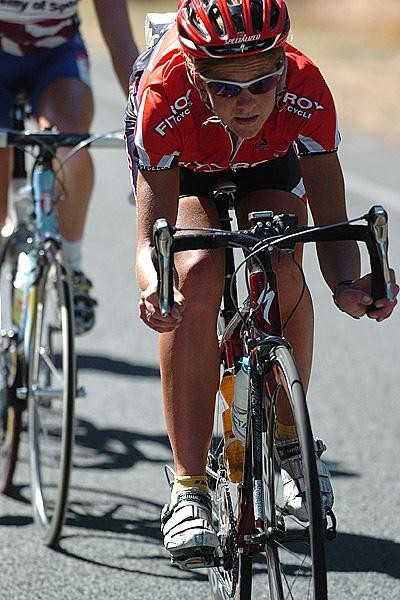 Sharon Laws made her road racing breakthrough in the 2008 Australian Open Road Championships