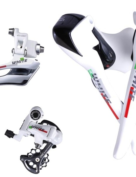 microSHIFT white road groupset