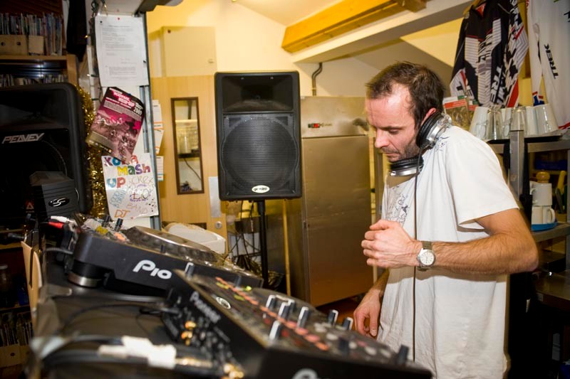 DJ at the afterparty