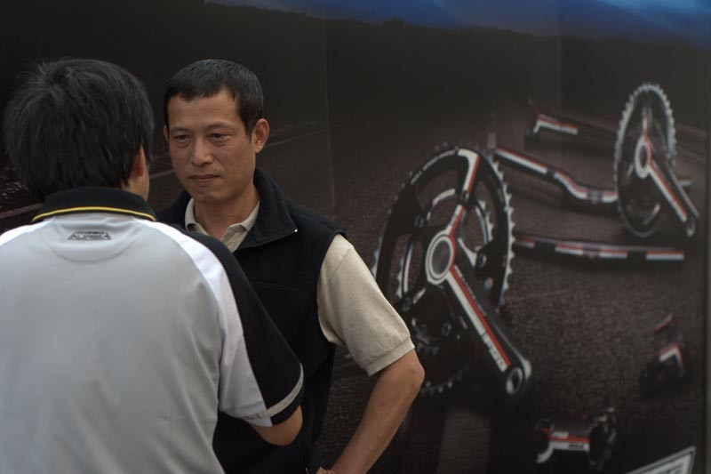 Taiwanese product managers discussing plans at the FSA opening