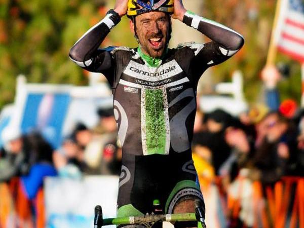 Tim Johnson (Cannondale-Cyclocrossworld.com) won the US national 'cross championship in a heated battle with Ryan Trebon (Kona-FSA)