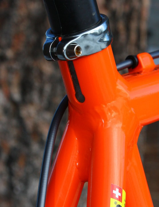 The seatpost slot is notably longer than usual