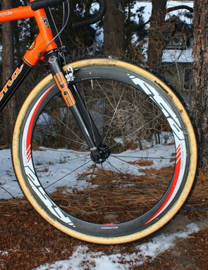 Trebon has a fleet of FSA RD-488 carbon tubular wheels at his disposal