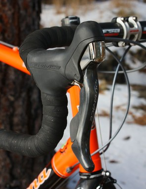 Trebon has switched this season to the new Shimano Dura-Ace 7900 group