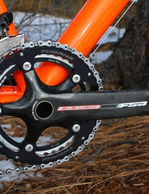 Trebon uses FSA's second-tier SL-K Light crankset as the top-end K-Force Light isn't available in his preferred 177.5mm arm length