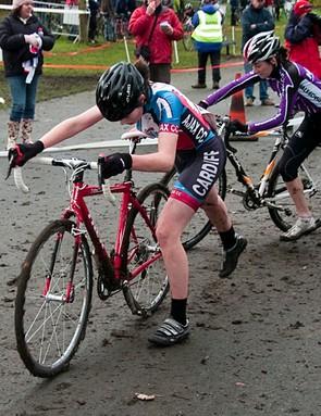 Amy Roberts won the girls race