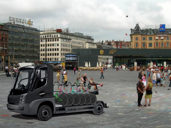 Cycles would be redistributed around the city using light electric vehicles