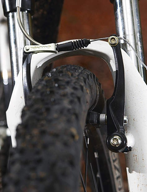 Rim brakes don't stop as well as disc brakes but they trim cost and weight